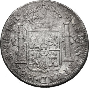 reverse: Mexico.  Ferdinand VII (1808-1833). 8 Reales 1809, Mexico city mint