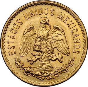 reverse: Mexico. 5 Pesos 1955, restrike