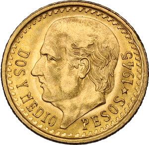 obverse: Mexico. 2 1/2 Pesos 1945, restrike