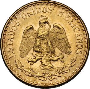 reverse: Mexico. 2 Pesos 1945, restrike