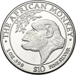 obverse: Somalia. 10 Dollars 1998