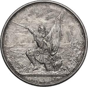 reverse: Switzerland. 5 Francs Shooting Thaler 1874, San Gallo