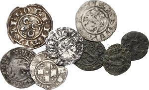 obverse: Interessante insieme di otto (8) monete medievali
