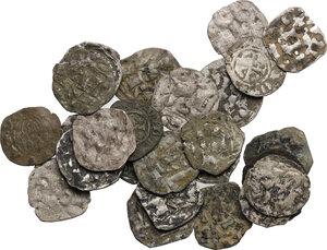 obverse: Interessante lotto di ventisette (27) monete medievali di varie zecche