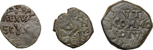 obverse: Messina. Lotto di tre (3) monete in bronzo da classificare, da Ruggero II a Carlo II
