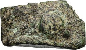 obverse: Aes Premonetale.. Aes formatum. A fragment of Cast AE currency Bar, Central Italy, 8th-4th century BC