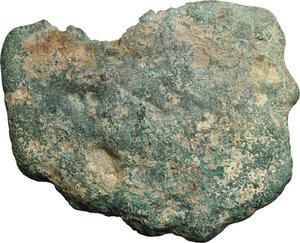 reverse: Aes Premonetale.. Aes Formatum. AE Cast Circular Cake, Etruria, 8th-4th century BC
