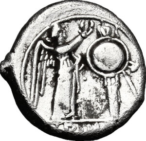 reverse: Anonymous. AR Victoriatus,  from 211 BC