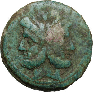obverse: Sextantal series.. AE As, after 211 BC