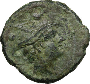 obverse: P. Manlius Vulso.. AE Sextans, c. 210 BC, Sardinia