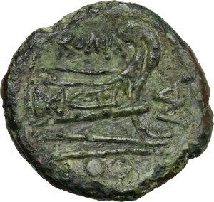 reverse: P. Manlius Vulso.. AE Sextans, c. 210 BC, Sardinia