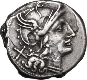 obverse: Cn. Baebius Tamphilus. AR Denarius, 194-190 BC