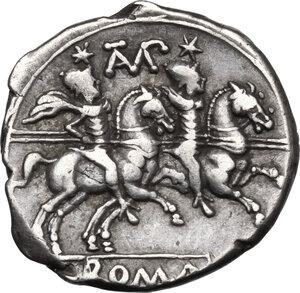 reverse: Cn. Baebius Tamphilus. AR Denarius, 194-190 BC