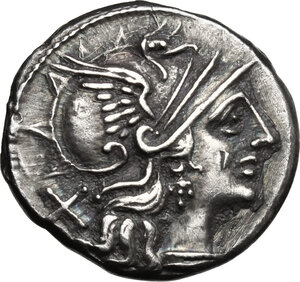 obverse: L. Saufeius.. AR Denarius, 152 BC
