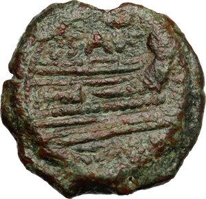 reverse: L. Saufeius.. AE Triens, 152 BC