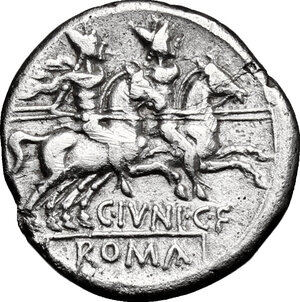 reverse: C. Iunius C.f. . AR Denarius, 149 BC