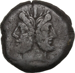 obverse: Q. Marcius Libo.. AE As, 148 BC