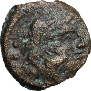 obverse: C. Curiatius f. Trigeminus.. AE Quadrans, 135 BC (?)