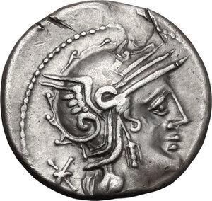 obverse: Q. Philippus.. AR Denarius, 129 BC