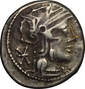 obverse: Q. Marcius Philippus.. AR Denarius, 129 BC