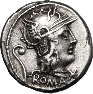 obverse: C. Servilius Vatia.. AR Denarius, 127 BC