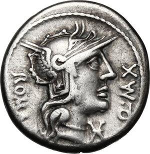 obverse: Q. Fabius Maximus.. AR Denarius, 127 BC