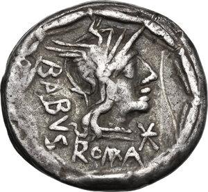 obverse: Man. Acilius Balbus. . AR Denarius, 125 BC