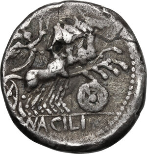 reverse: Man. Acilius Balbus. . AR Denarius, 125 BC