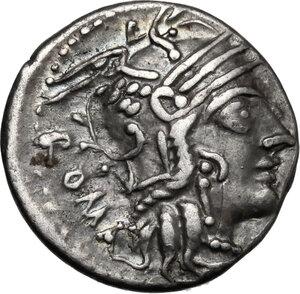 obverse: M. Calidius, Q. Metellus and Cn. Fulvius . AR Denarius, 117-116 BC