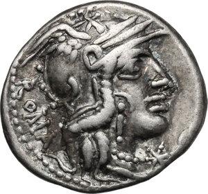 obverse: Cn. Fulvius, M. Calidius and Q. Metellus. AR Denarius, 117-116 BC
