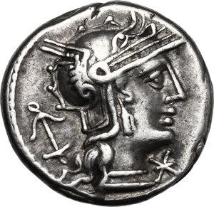 obverse: Sex. Julius Caesar.. AR Denarius, 129 BC