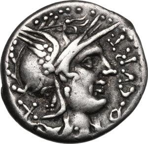 obverse: Q. Curtius.. AR Denarius, 116-115 BC