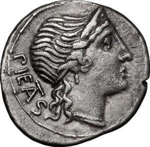 obverse: M. Herennius. AR Denarius, 108/107 BC