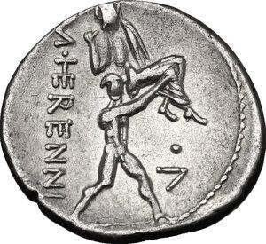 reverse: M. Herennius. AR Denarius, 108/107 BC