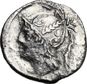 obverse: Q. Thermus M.f. . AR Denarius, 103 BC