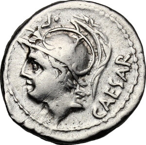 obverse: L. Julius L.f. Caesar.. AR Denarius, 103 BC