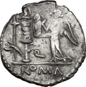 reverse: C. Egnatuleius C.f.. AR Quinarius, 97 BC