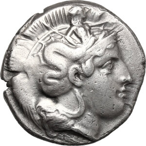 obverse: Southern Lucania, Thurium. AR Stater, circa 400-350 BC