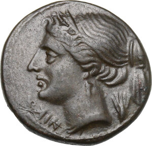 obverse: Bruttium, Brettii. AE Half Unit, circa 214-211 BC