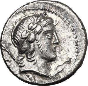 obverse: Pub. Crepusius.. AR Denarius, 82 BC