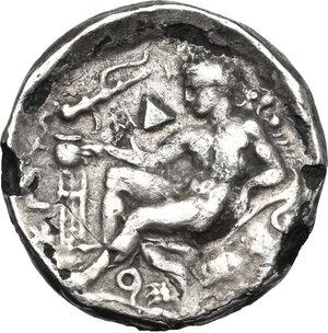 reverse: Bruttium, Kroton. Fourrée Stater, c. 400-325 BC