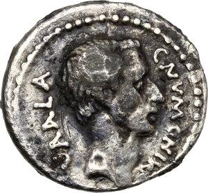 obverse: C. Numonius Vaala.. Fourrée Denarius, c. 41 BC