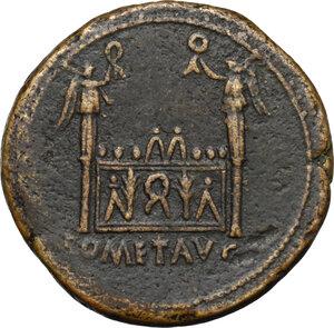 reverse: Augustus (27 BC - 14 AD)  . AE Sestertius, struck 10-14 AD. Lugdunum mint