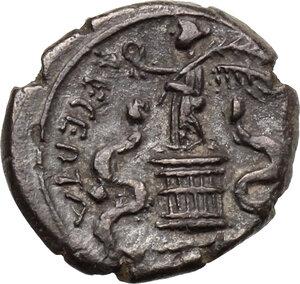 reverse: Augustus (27 BC - 14 AD)  . AR Quinarius, c. 29-27 BC