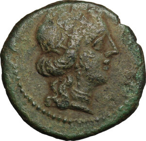 obverse: Aitna.  Roman Rule.. AE 17mm, after 212 BC