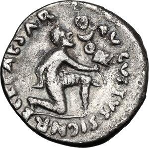 reverse: Augustus (27BC - 14AD).. AR Denarius, P. Petronius Turpilianus moneyer, 18 BC