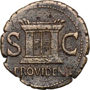 reverse: Augustus (Divus, after 14 AD).. AE As, struck under Tiberius, circa 22-30 AD