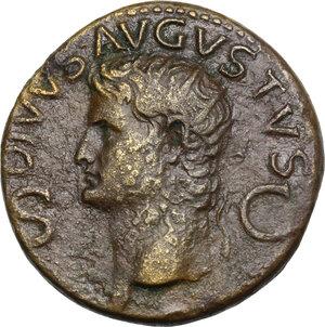 obverse: Augustus (Divus, after 14 AD).. AE Dupondius, Rome mint. Struck under Gaius (Caligula), 37-41 AD