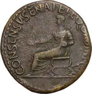 reverse: Augustus (Divus, after 14 AD).. AE Dupondius, Rome mint. Struck under Gaius (Caligula), 37-41 AD