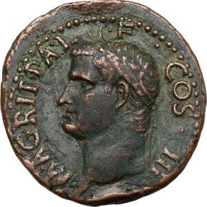 obverse: Agrippa (died 12 BC).. AE As, struck under Gaius, 37-41